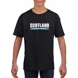 Zwart schotland supporter t shirt kinderen