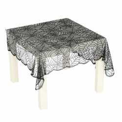 Zwart spinnenweb tafelkleed 70 bij 95