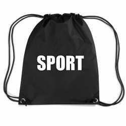 Zwart sport rugtasje/ gymtasje kinderen