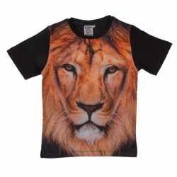 Zwart t shirt leeuw kinderen