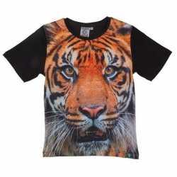 Zwart t shirt tijger kinderen
