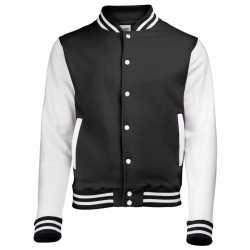 Zwart wit college jacket dames