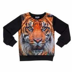 Zwarte sweater tijger kinderen