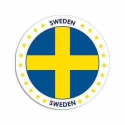 Zweden sticker rond 14,8