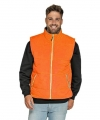 Basic bodywarmer oranje heren