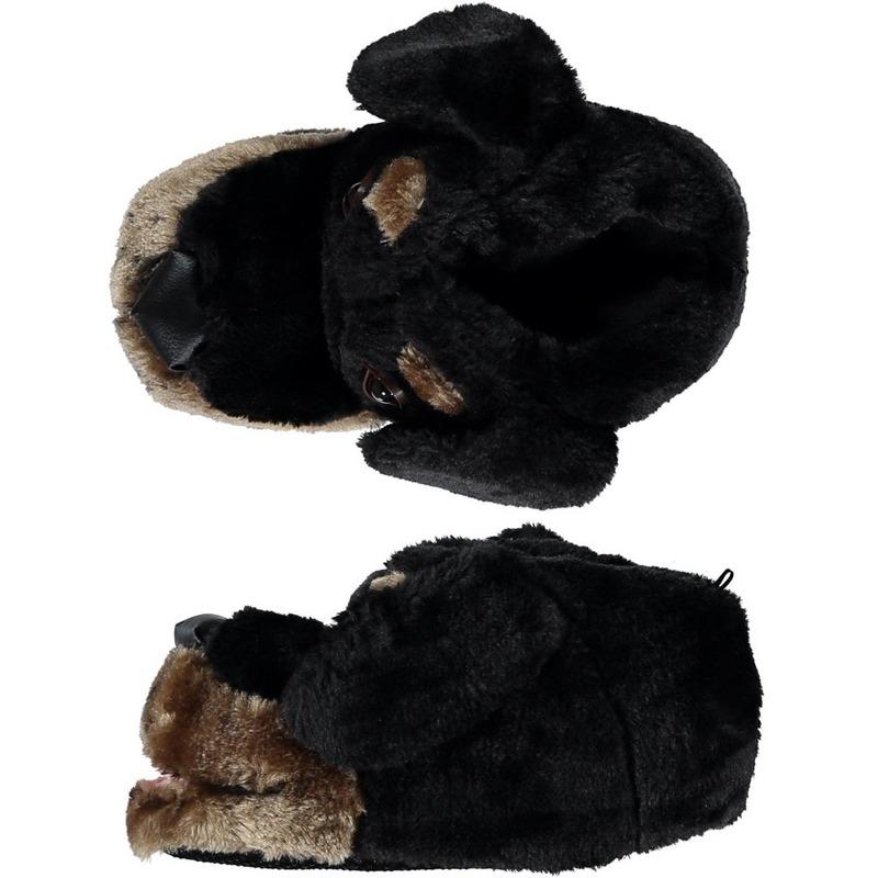 Dieren sloffen pantoffels hond zwart kinderen