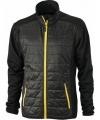 Heren hybride jas zwart geel
