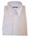 Heren overhemd gestreept wit 10015772