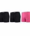 Lemon and soda boxershorts 3 pak zwart roze m