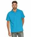 Polo shirt turquoise heren