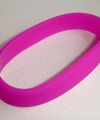 Siliconen armband neon paars