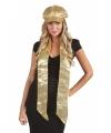 Sjaal gouden pailletten