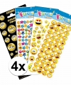 Smiley thema kinder stickers pakket