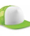 Snapback truckers pet lime groen