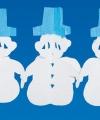 Sneeuwpop versiering slinger