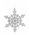 Sneeuwvlok decoratie zilver 14 5 type 2