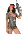 Soldaten verkleed shirt dames
