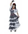 Spaanse flamenco jurk zwart wit