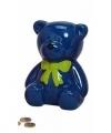 Spaarpot blauwe teddybeer 20