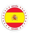 Spanje sticker rond 14 8
