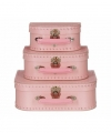 Speelgoed koffertje licht roze 25
