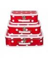 Speelgoed koffertje rood polka dot 30