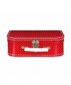 Speelgoed koffertje rood witte stippen 25