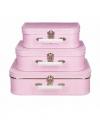 Speelgoed koffertje roze stippen wit 25