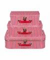 Speelgoedkoffertje rood witte strepen 30