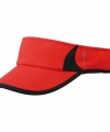 Sportieve zonneklep rood zwart