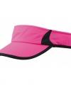 Sportieve zonneklep roze zwart