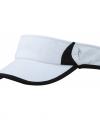 Sportieve zonneklep wit zwart