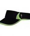 Sportieve zonneklep zwart groen
