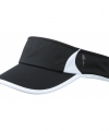 Sportieve zonneklep zwart wit