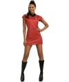 Star trek uhura jurkje rood