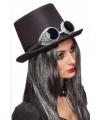Steampunk hoed zwart bril