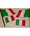 Sticker set van de italiaanse vlag