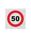 Stopbord servetten 50 jaar