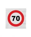 Stopbord servetten 70 jaar