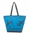 Strandtas gekko blauw donkerblauw 58