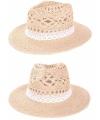 Stro hoed ibiza kant