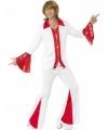 Super trooper disco kostuum rood wit
