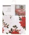 Tafelkleed wit kerstster 130 bij 80