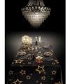 Tafelkleed zwart gouden sterren