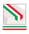 Tafelloper rood wit groen 180 bij 28