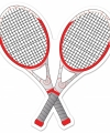 Tennisracket decoratie 25