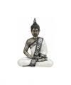 Thaise boeddha beeldje zilver wit 27