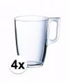 Theeglazen bekers 4 stuks 320 ml