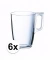 Theeglazen bekers 6 stuks 320 ml
