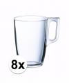 Theeglazen bekers 8 stuks 320 ml